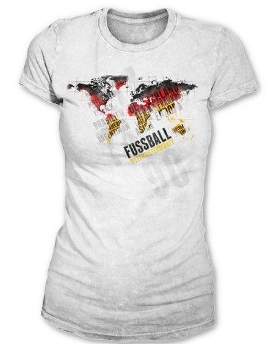 Deutschland Weltmeister WM 2014 Fanartikel T-Shirt Damen Shirts Fußball vereint Nationen 60211 (S) (Italien World-cup-champions)
