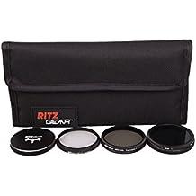 Ritz Gear&trade: Kit de filtre HD MC pour les appareils photo DJI Inspire 1, Osmo X3, Zenmuse X3 Drone - comprend CPL, UV, FADER ND, un protège-objectif métallique, une housse