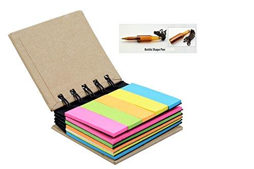 BJA Pocket Size Spiral Sticky Note Pad