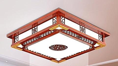 ZHANGYONG*Chinois salons plafonniers antique bois sculpture chambre à coucher den salle à manger (46 * 46cm)
