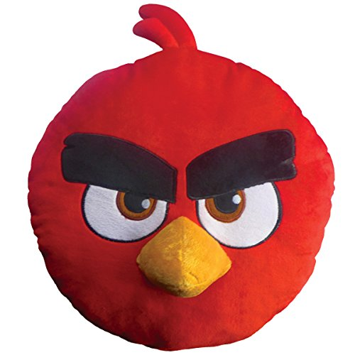 Angry Birds 043601 3D Kissen Red, Polyester, Durchmesser 36 cm (Angry Bird Kissen)
