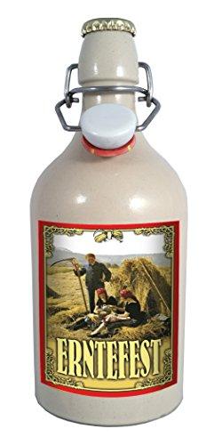 Erntefest - 0,5 Liter Tonflasche mit Bügelverschluss
