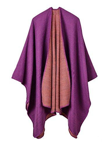 aare Gro?e Warme Winter Ponchos und Capes, Dicke Decke Schals Stolen Pashmina Schal Wraps Fest und Farbverl?ufen Mehrfarbigen (Karierten Anzug)