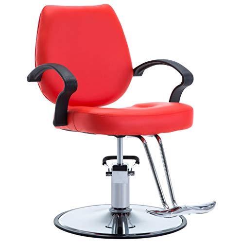 vidaXL Friseurstuhl Rot Friseursessel Friseureinrichtung Bedienungsstuhl