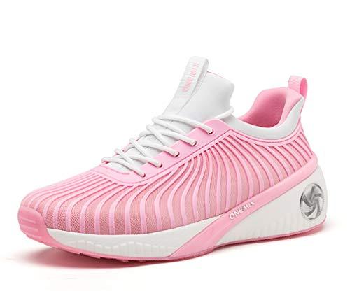 Dilize-OneMix , Chaussures de Running Femme - Rose - Rose/Blanc, 35.5