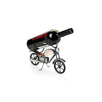 Creative Fashion Retro Simple Classic Iron Scooter Small Wine Rack Place 1 Bottle Wine Decoration Wine Rack / Restaurant / Wine Cooler / Desk Set Crafts Special Gifts