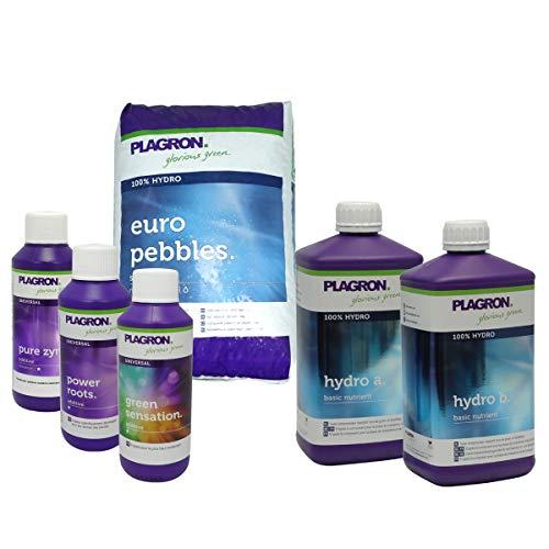 Plagron - Pack engrais 100% Hydro Litre - billes argile 50 litres