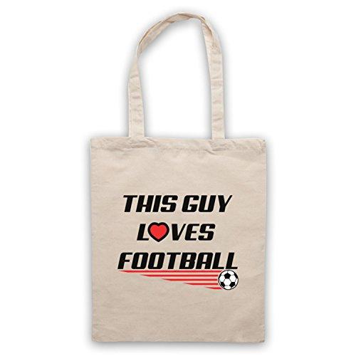 This Guy Loves Football Football Slogan Umhangetaschen Naturlich