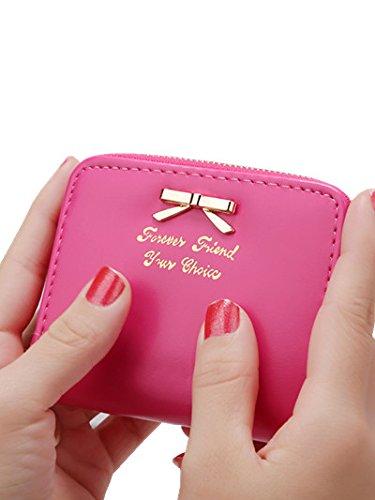 Mini portafoglio, portamonete, ruirs Nizza Fashion Mini Portafoglio in pelle PU portafoglio portamonete donna Mini Borsa (prugna)