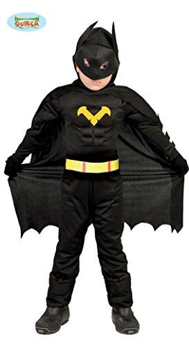 Fledermaus Superheld - Kostüm für Kinder Karneval Fasching Held schwarz Gr 98-146, Größe:110/116