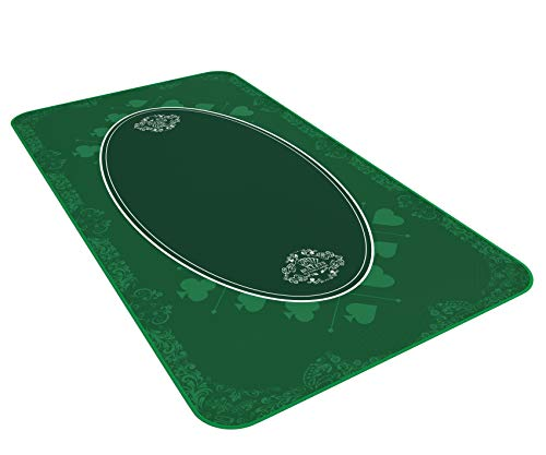 Bullets Playing Cards Universal Tischdecke für Brettspiele, Kartenspiele oder Gesellschaftsspiele grün in 140 x 75cm für den eigenen Spieltisch - Deluxe Unterlage - Spielteppich - Tischauflage