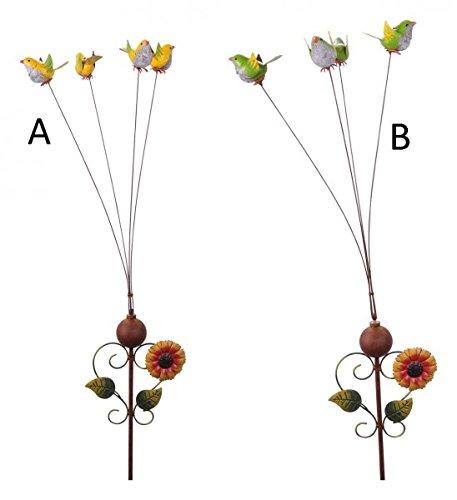 Gartenpendel Gartenwippe Vogel H: 165cm Rankstab Gartenstecker Windspiel
