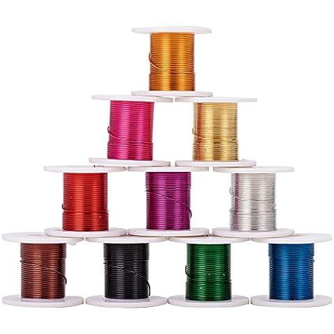 Color mezclado Alambre de Cobre,0,3 mm; alrededor de 3 metros / roll, 12rolls / caja