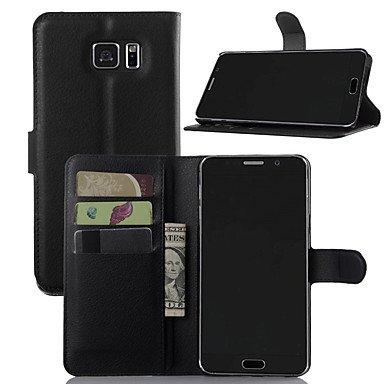 HLY-CASE Gute Leistung Für Hüllen Cover Geldbeutel Kreditkartenfächer Stoßresistent mit Halterung Handyhülle für das ganze Handy Hülle Volltonfarbe Hart, Einfach zu bedienen