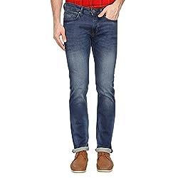 LP Jeans By Louis Philippe Mens Matt Fit Jeans (LRDN517R04460_Blue_32)