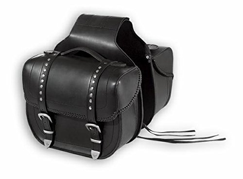 A de Pro Travel Pair Custom High Resistance Saddle Bag Motor Bike alforjas Black