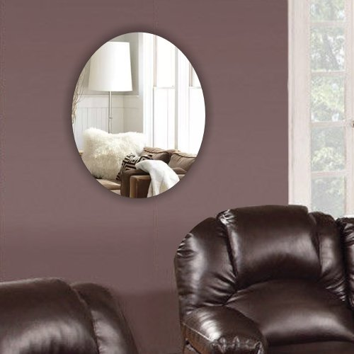 decorative-frameless-oval-mirror-no-diy-no-nail-needed-complete-kit-bed-room-living-room-hallway-bat