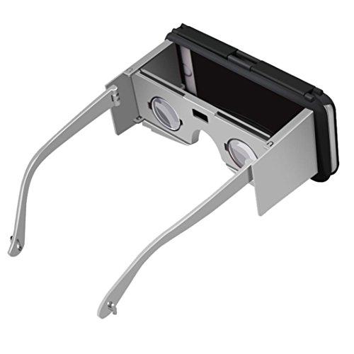 Sansee Virtual Reality Gläser für iPhone 6S Plus 5,5 Zoll Portable 3D VR Handy Fall (Silber) (Tv Google Lg 47)