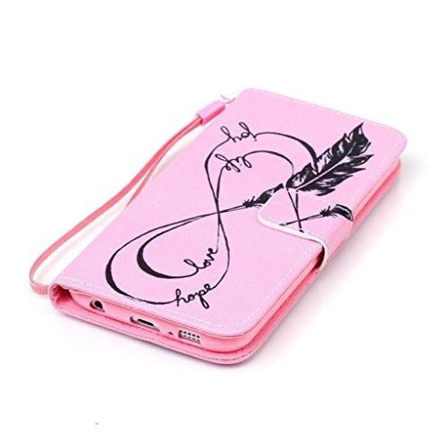 Trumpshop Smartphone Case Coque Housse Etui de Protection pour Samsung Galaxy S6 + This iPhone is Locked + Smartphonecoque Portefeuille PU Cuir Anti-Choc flèche de Cupidon