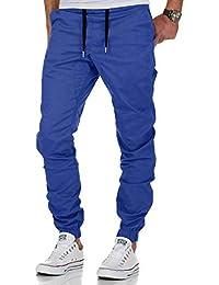 Jogging Pantalons de Survêtement Ceinture Élastique Sport Cargo Pantalons avec Poches Joggers Activewear Pantalons pour Homme