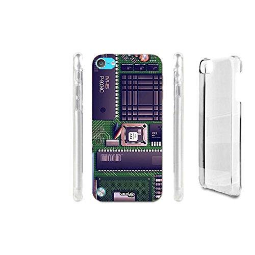CASELABDESIGNS CRYSTAL HÜLLE CASE COVER CIRCUITI CHIP NERD FÜR IPOD TOUCH 5 - STRUKTUR IM HART MATERIAL SCHUTZ (Für Fällen Touch Nerd Ipod)