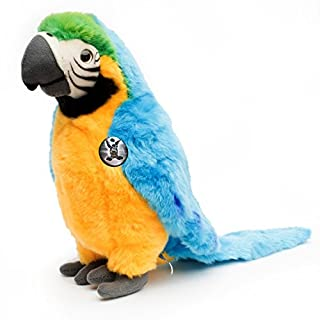 Blue-and-gold macaw KAIKO 50 cm Parrot Ara yellow blue Plush toy by Kuscheltiere.biz
