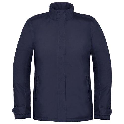 B&C Damen Thermo-Jacke, winddicht, wasserfest Marineblau