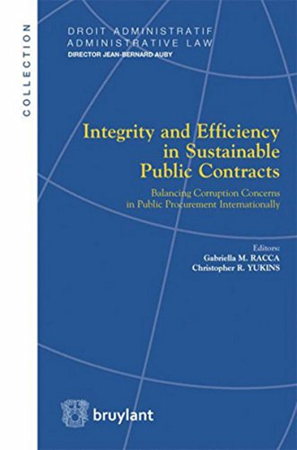 Integrity and Efficiency in Sustainable Public Contracts: Balancing Corruption Concerns in Public Procurement Internationally
