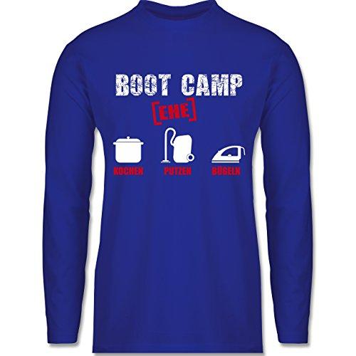 JGA Junggesellenabschied - Boot Camp Ehe - Longsleeve / langärmeliges T-Shirt für Herren Royalblau