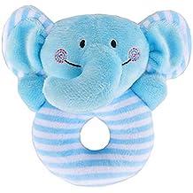 Bebé Sonajero Suave Juguetes Infantiles Handbell Lindo Elefante Animal de Dibujos Animados Niño Niña Campana Mano