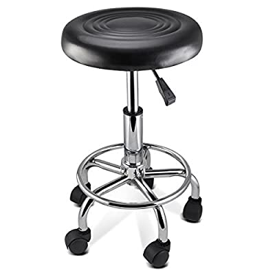 tinkertonk Faux PU Leather Massage Tattoo Beauty Salon SPA Manicure Swivel Gas Lift Stool Therapy Gas Stool Height Adjustable - cheap UK light store.