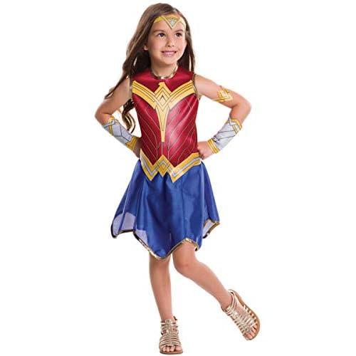 Generique - Disfraz clásico Wonder Woman Liga de la Justicia niña - 5 a 6 años (105 a 116 cm) 2