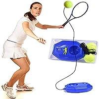 Herramienta de Entrenamiento de Tenis, Entrenador de Tenis en Solitario, Herramienta de Entrenamiento de Tenis para Trabajo Pesado con Pelota De Ejercicios Sport Auto-Study Rebound Ball