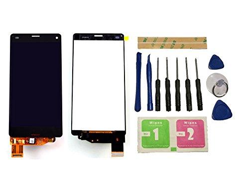 Flügel - Display LCD di ricambio per Sony Xperia Z3 Compact Mini D5803 D5833, schermo tattile nero digitale in vetro, strumenti di montaggio (senza telaio) e colla