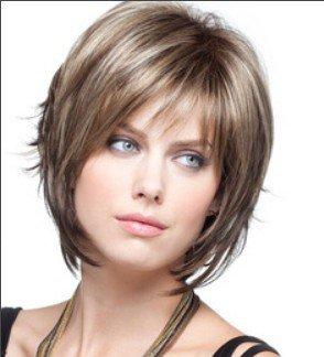 XNWP-Nuova moda Lady breve parentesi parrucche in gold style ad alta temperatura i capelli a filo