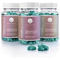 Hairworthy – Acción rápida crecimiento del cabello masticables Vitaminas. Suplemento Natural para el pelo largo.