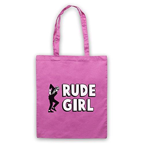Rude Girl Jamaican Street Culture Slogan Umhangetaschen Rosa