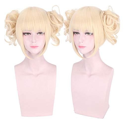 DXYQT Cosplay Anime Perücken Weibliche Blonde Menschenhaar Split Typ Lockige My Hero College Rose Inner Net (Günstige Hero Kostüm)