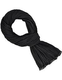 Chèche coton noir uni