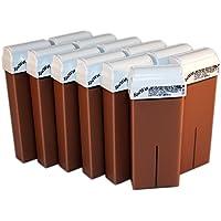 Epilwax S.A.S.–Juego de 12Roll On de cera desechable en los Chocolate para depilación con ruedas gran modelo para piernas, aisselles y el cuerpo