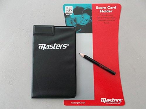 Golf Scorekartenhalter von Masters Golf mit Stift & Handicap Taschenrechner * NEU * (Golf Masters Shirt)
