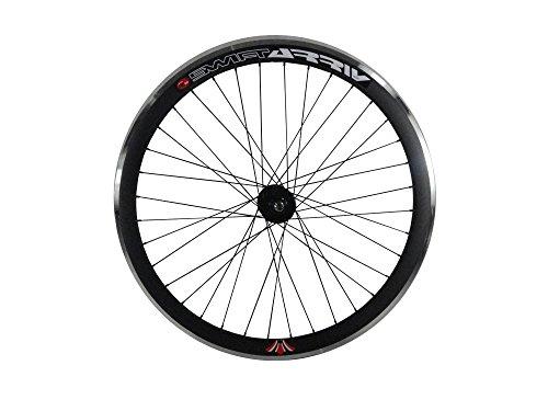 WooHooBikes Tiefer V 43mm Rad vorne für Fixie, Fixed Gear, Track, Single Speed Bike, schwarz