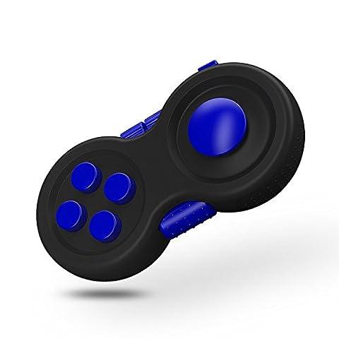 G-Hawk® Fidget Pad - 9 Fidget Features (mehr als Fidget Cube) - Perfekt für Skin Picking, ADD, ADHS, Angst und Stress Relief