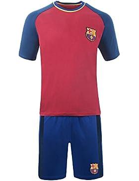 FC Barcelona Pijama hombres Oficial PJ Ropa de dormir Tamaños pequeños a XXL (Small, Morado)