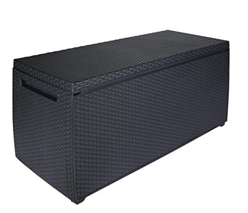 Keter Auflagen- und Universal Rattan Style Box Capri, 305 L, grau (Rattan Aufbewahrungsboxen)