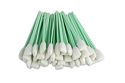 Zetek 12,7cm de long de 50pièces en mousse Pointe Bâtonnets de nettoyage éponge bâton pour tête d