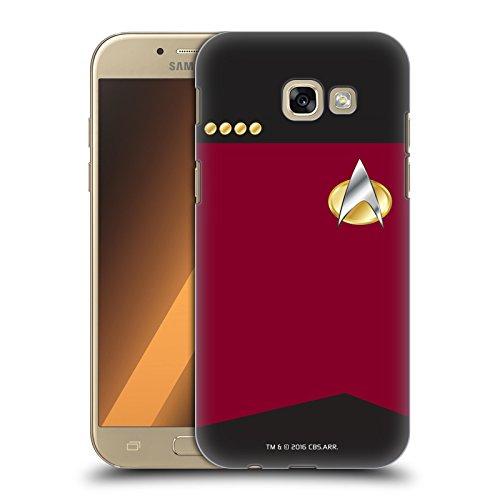 Offizielle Star Trek Captain Uniformen Und Plaketten TNG Ruckseite Hülle für Samsung Galaxy A5 (2017) (Uniform Offizielle)