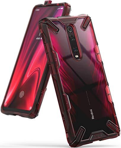 Ringke Fusion-X Designed for Xiaomi Redmi K20 Case, Redmi K20 Pro Case, Ergonomic Transparent [Military Drop Tested] Protection for Xiaomi Redmi K20 Back Cover, Redmi K20 Pro Back Cover - Ruby Red
