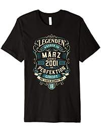 18. Geburtstag 18 Jahre Jahrgang 2001 März T-Shirt