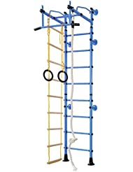 Equipamiento Deportivo De Acero Inoxidable Barras De Pared Ajuste Superior M2 - Azul, para espacios de 240-290 cm